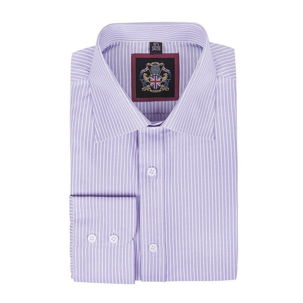 Janeo British Apparel Branded, The Classic WINDSOR Fine Stripe Shirt, Single & Double Cuff Sleeve. Quality Tailor Made Style, Easy Care Fabric, Office Wear & Special Occasion, Formal or Casual