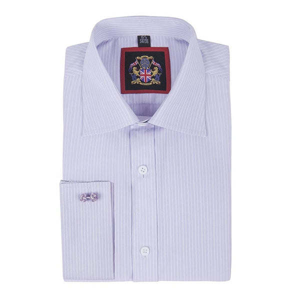 'THE CANTERBURY SHIRTS' Janeo British Apparel Branded, Classic Canterbury Self Stripe Mens Shirt, Single & Double Cuff Sleeve, 4 beautiful colours