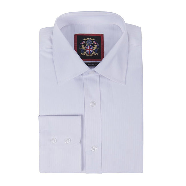 Janeo British Apparel Branded,The Classic CANTERBURY Self Stripe Mens Shirt,Single & Double Cuff Sleeve. Traditional Tailor Quality Look,Easy Care Fabric,Office Wear & Special Occasion,Formal,Casual