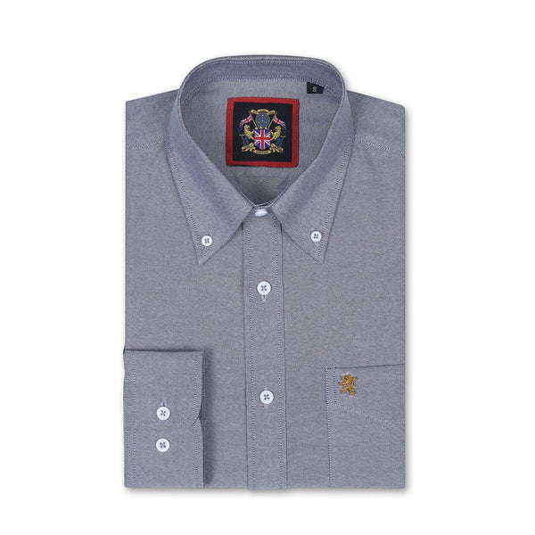 'THE ENGLISH OXFORD SHIRTS' Long Sleeve Shirt Janeo British Apparel, Mens English Oxford Button Down Collar, with Pocket & Embroidery Detail. Worn With Ties Or Weekend Attire Or Casual Friday Office Shirt