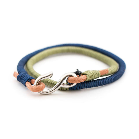 Green Blue Wraparound Bracelet