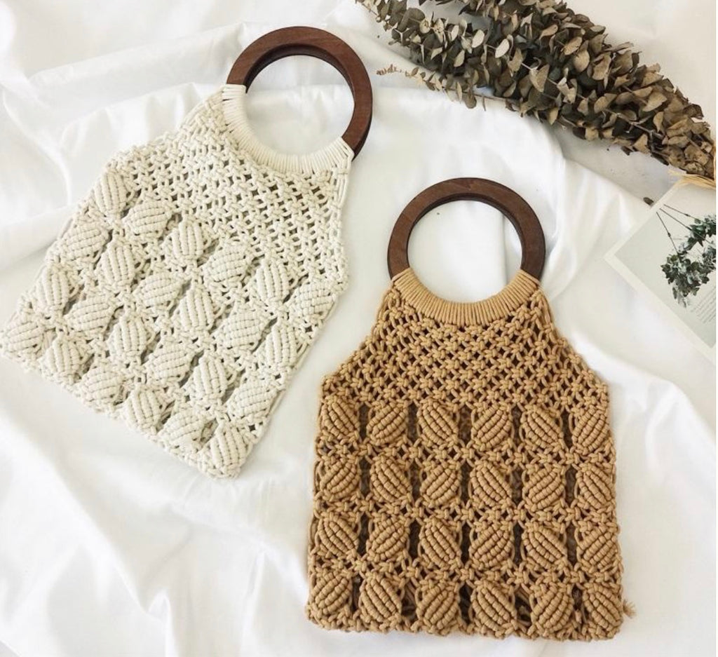 Handwoven Beach Crochet Bag