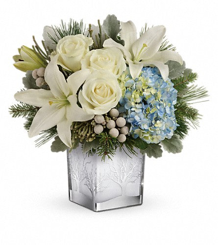 Silver Woodland Snow Bouquet