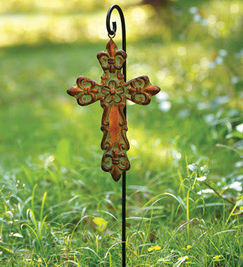 Cross with pick stand