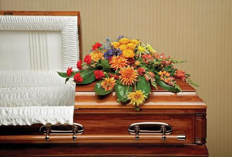 Graceful Garden Casket Spray