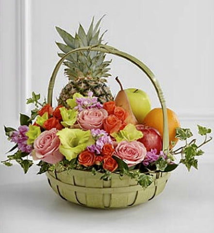 Peaceful Fruit and Floral Basket