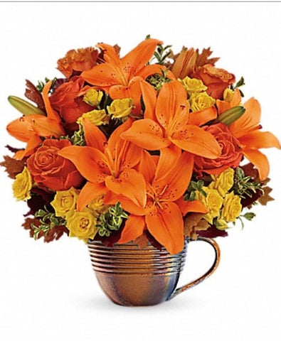 Autumn Sunrise Measuring Cup Bouquet