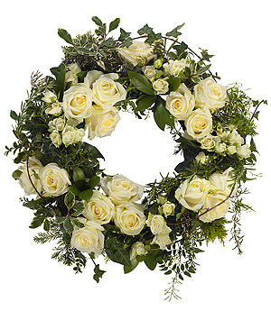 English Rose Garden Wreath