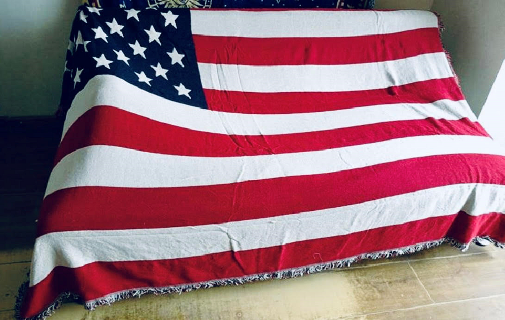 America Throw Blanket
