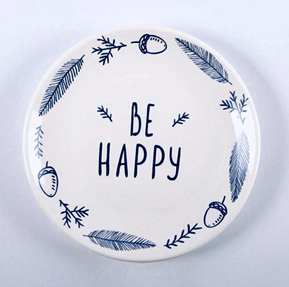 Be Happy Quoted Ceramic Place