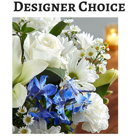 Designer Choice in Blue and White