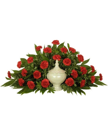 Carnation Cremation Urn Arrangement