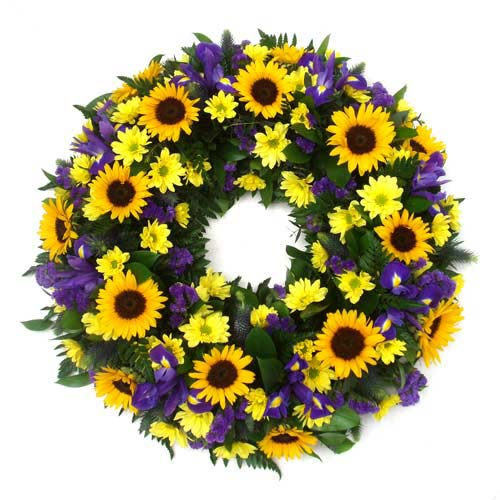 Summer's Sun Standing Wreath
