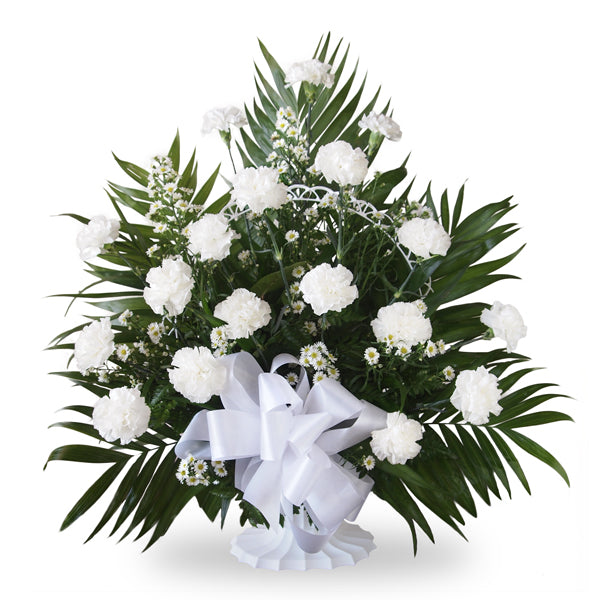 Traditional Classic Carnation Basket
