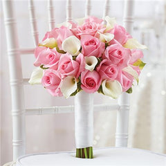 Calla Lily  and Rose Hand-tied Bouquet