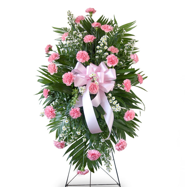 Traditional Classic Carnation Standing Spray