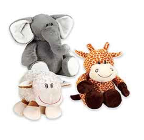 Elephant, Lamb, and Giraffe