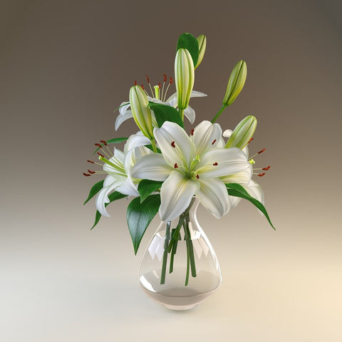 Pure White Lily Bouquet