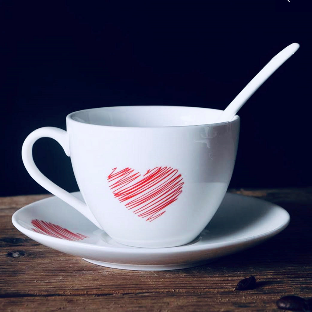 Love Saucer and Spoon Set
