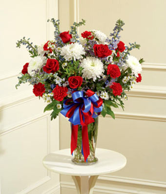 Red, White, and Blue Arrangement