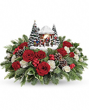 Thomas Kinkade Jolly Santa Centerpiece