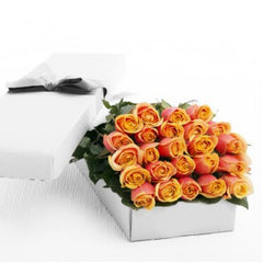 Elegant Boxed Two Dozen Roses