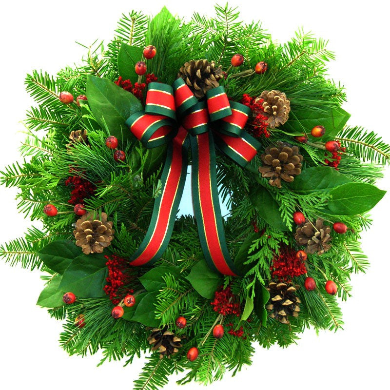 Mixed Evergreen Christmas Wreath