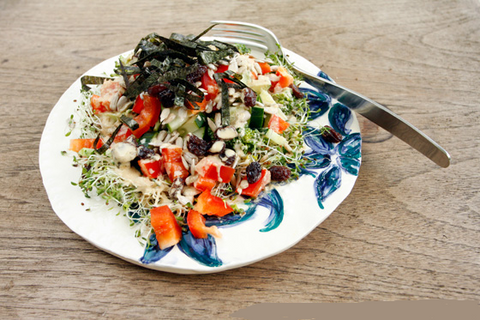 Balsamic-Dressed Alfalfa Sprouts Salad