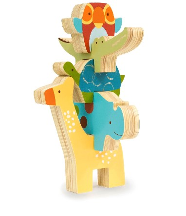 Skiphop giraffe safari stacking animal blocks