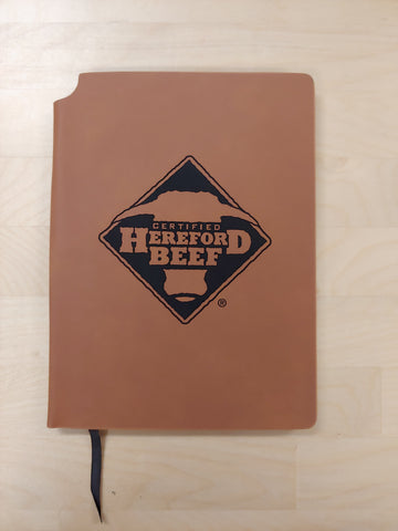 Certified Hereford Beef Ultra Suede Journal