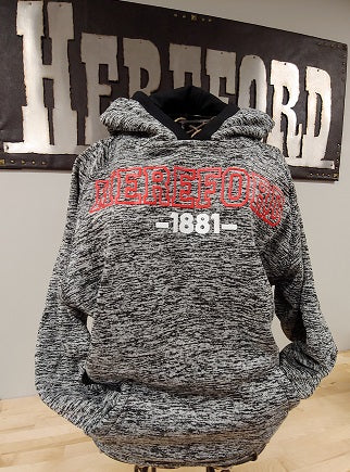 Hereford Youth Fleck Hoodie - Charcoal/Black