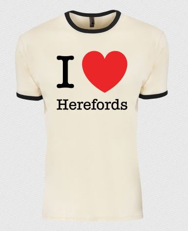 I Love Herefords Tees - Natural