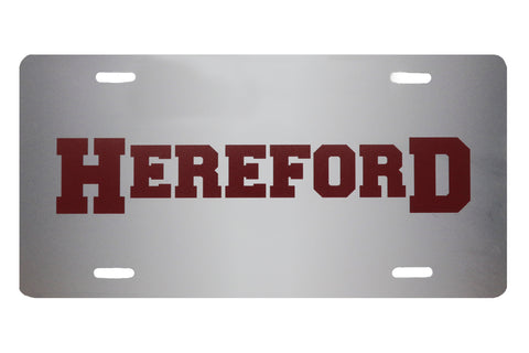 Hereford License Plate