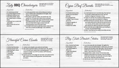 Hereford Beef Recipe Cards (printed sets of 25)