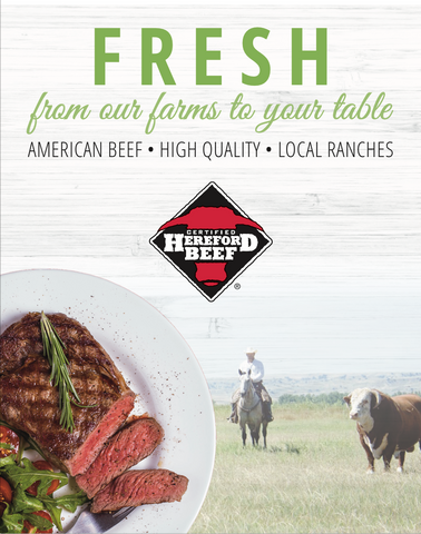 Certified Hereford Beef Poster (22x28) - Farm Fresh