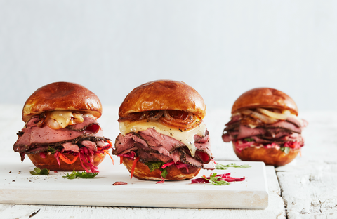 Certified Hereford Beef Pastrami Sliders Canvas Print