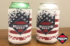 Certified Hereford Beef Patriotic Koozie