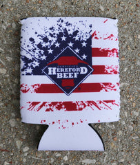 Certified Hereford Beef Koozie -  Patriotic