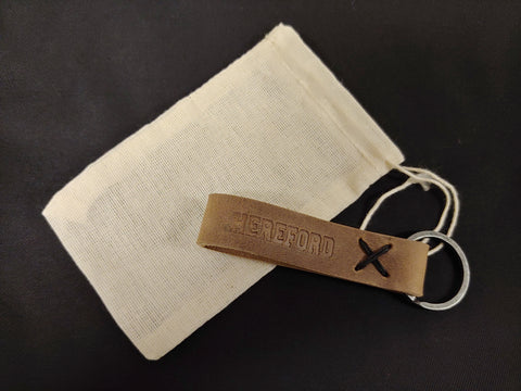 Hereford Leather Keychain