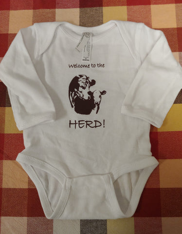 Welcome Hereford Onesie