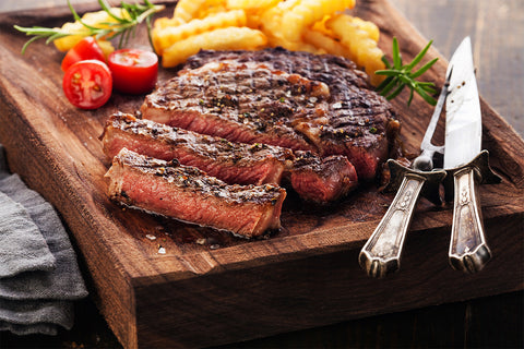 Certified Hereford Beef Ribeye Steaks - (Six 12 oz Steaks)