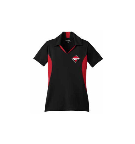 Certified Hereford Beef Women's Polo - Red & Black