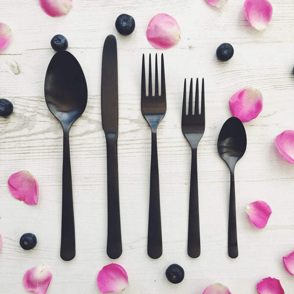 Canvas Home Black Cutlery Set - Get The Look Interiors - 1