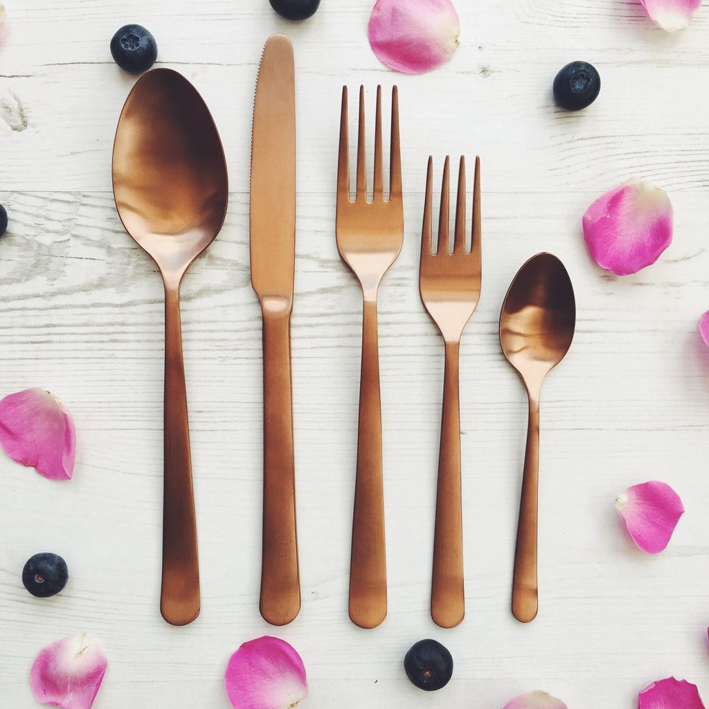 Copper Cutlery Set - Get The Look Interiors - 1