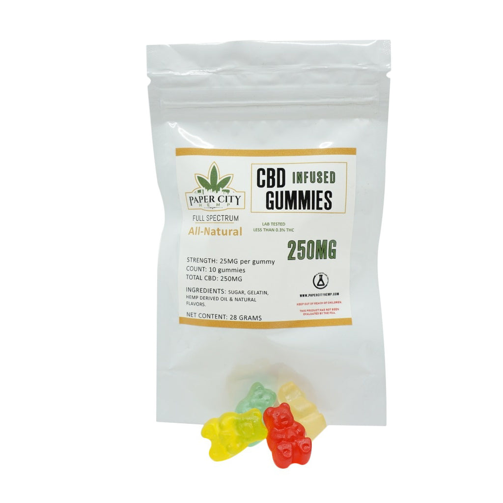 Infused Gummies - 25mg CBD Each - Indoor Grown - Paper City Hemp