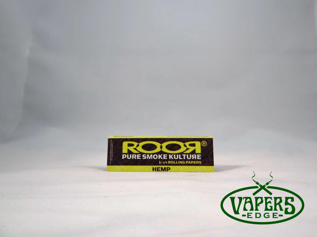 Roor Hemp Rolling Papers 1 1/4 Size 50 per