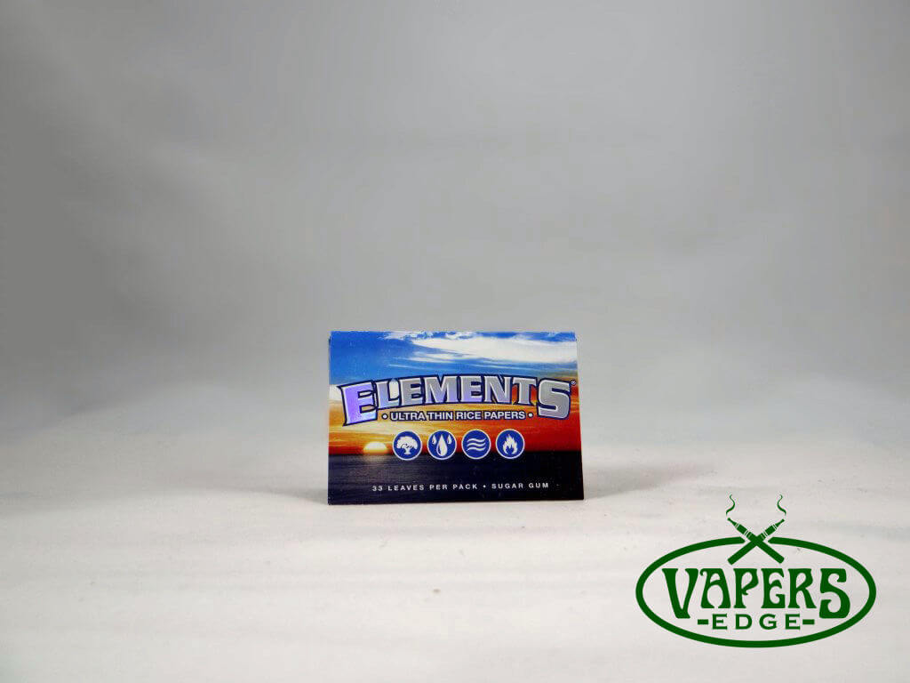 Elements Ultra Thin Rice Rolling Papers 1 1/2 Size 33 per