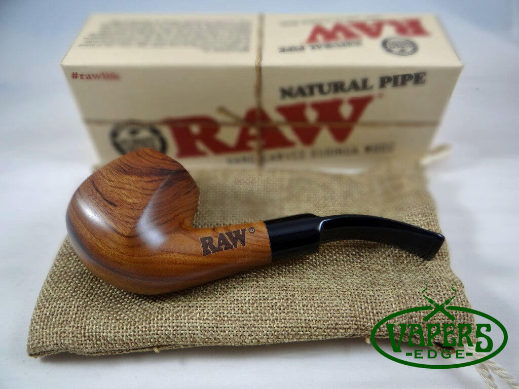 Raw Bubinga Wood Pipe