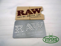 Raw Three Way Shredder Card