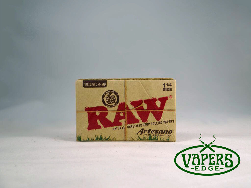 Raw Organic Hemp Artesano Rolling Papers 1 1/4 Size 32 per